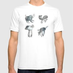 Creatures of the night Mens Fitted Tee White SMALL