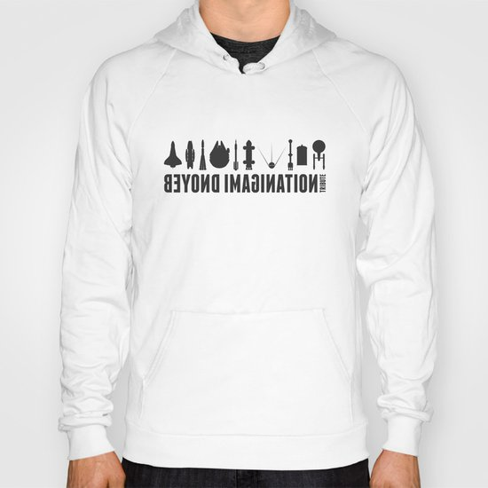 Beyond imagination: Space Shuttle postage stamp Hoody