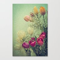 Vintage French Tulips --… Canvas Print