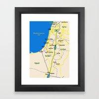 Israel Map design Framed Art Print