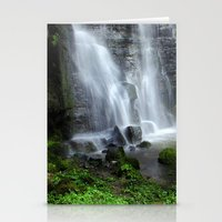 Waterfall At Swallet Fal… Stationery Cards
