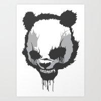 Dirty Angry Panda Art Print