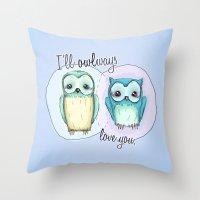 owls Throw Pillow