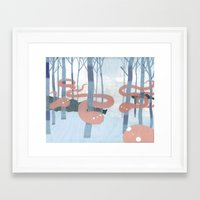 Snakes in the Forest Framed Art Print