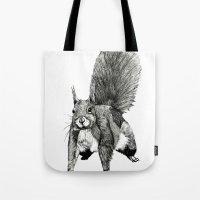 Pesky Squirrel Tote Bag