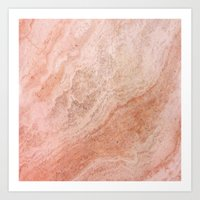 Polished Rose Gold Marbl… Art Print