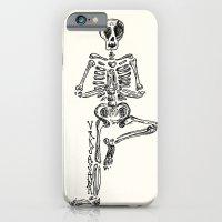 "iPhone & iPod Case featuring ""Vrksasana"" Skeleton Print by devonstorm"