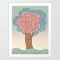 Tree Swirl Art Print
