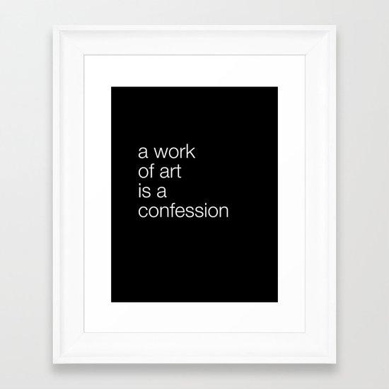 work of art black Framed Art Print