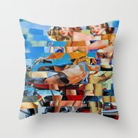 Glitch Pin-Up: Zelda & Z… Throw Pillow