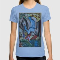 Waking in Fairy Land Womens Fitted Tee Athletic Blue SMALL