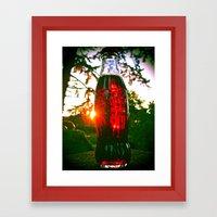 Cola sunset Framed Art Print