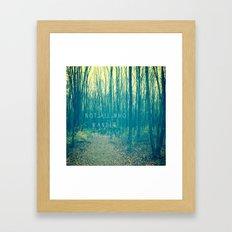 Wander in the Woods Framed Art Print