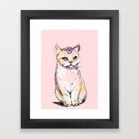 Josephine The Cat Framed Art Print
