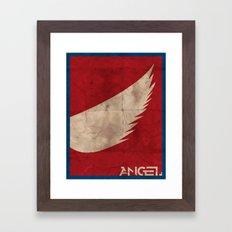 Minimalist Angel Framed Art Print