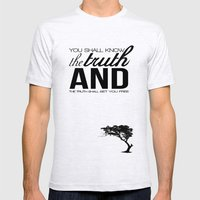 Truth Mens Fitted Tee Ash Grey SMALL