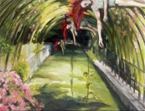 Agnes descending Art Print