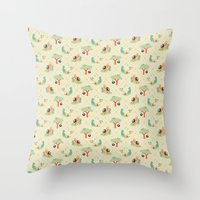 Playground Critters Throw Pillow
