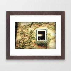 Window and ivy Framed Art Print