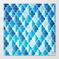 Geo-Ocean Canvas Print
