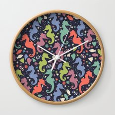 Dancing Seahorses Wall Clock