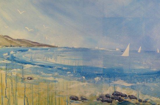 Sail boat sea Art Print