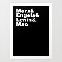Marx&Engels&Lenin&Mao. Art Print
