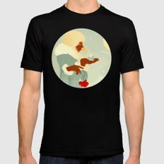 Mountain Poppies Black Mens Fitted Tee SMALL