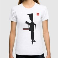 Art not War - Pink Womens Fitted Tee Ash Grey SMALL