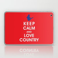 Keep Calm and Love Country Laptop & iPad Skin