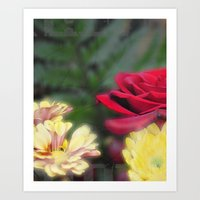 Flowers at Day Art Print