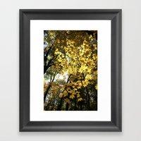 Golden Leaf Canopy Framed Art Print