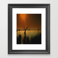Worshipping Framed Art Print