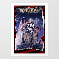 Beetlejuice: Ripped And … Art Print
