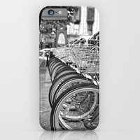 iPhone & iPod Case featuring Bike Rack in Dublin by Chris Klemens