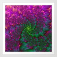 Psychedelic Root Spiral Art Print