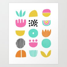 SIMPLE GEOMETRIC 001 Art Print