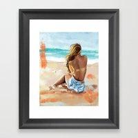Beach Bum Framed Art Print