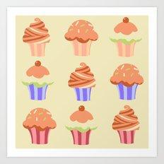 Yummy Cupcakes Art Print
