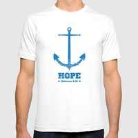 Anchor for the soul. Hebrews 6:19. Mens Fitted Tee White SMALL