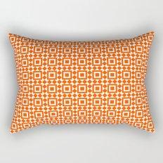 Moroccan Tiles Red Rectangular Pillow