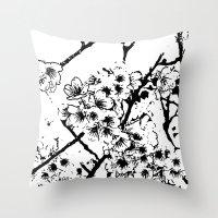 Cherry Blossom #2 Throw Pillow