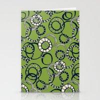 Honolulu hoopla green Stationery Cards