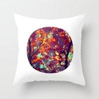 Autumn Tree X Throw Pillow