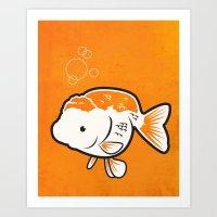 Ranchu Goldfish Art Print