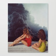 Canvas Print featuring SUNBATHING by Beth Hoeckel Collage…