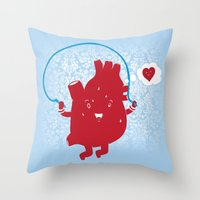 Cardio Ambition Throw Pillow
