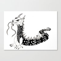 Dragon of the Dark Canvas Print