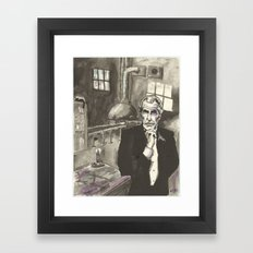Portrait of Vincent Price in the Laboratory Framed Art Print