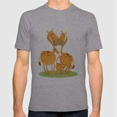 Giraffe  Mens Fitted Tee Athletic Grey SMALL